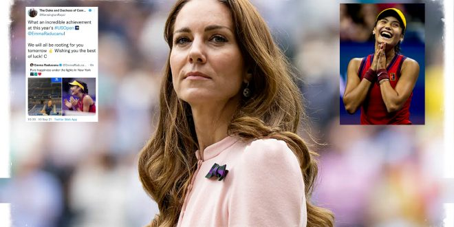 Duchess Kate Has Sent A Heartfelt Congratulations To The British Teen Sensation