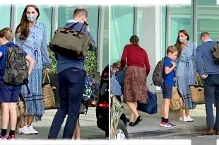 William And Kate Have Been Spotted At Heathrow Airport with George, Charlotte And Louis